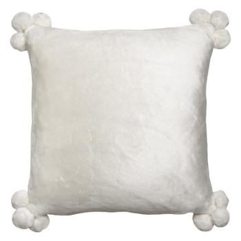Casa Fodere per cuscini Vivaraise TENDER POMPONS Bianco