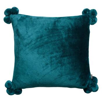 Casa Fodere per cuscini Vivaraise TENDER POMPONS Blu