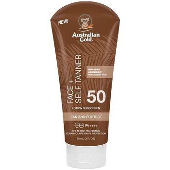 Bellezza Protezione solari Australian Gold Face Self Tanner Spf50 Sunscreen