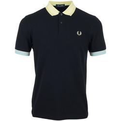 Abbigliamento Uomo Polo maniche corte Fred Perry Contrast Trim Polo Shirt Blu
