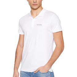 Abbigliamento Uomo Polo maniche corte Calvin Klein Jeans Classic little logo Bianca