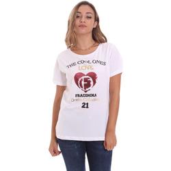Abbigliamento Donna T-shirt maniche corte Fracomina FP21ST3023J40013 Bianco