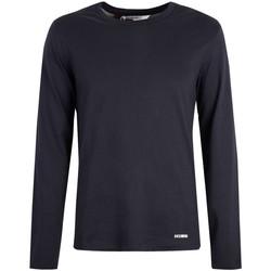 Abbigliamento Uomo T-shirts a maniche lunghe Bikkembergs  Blu