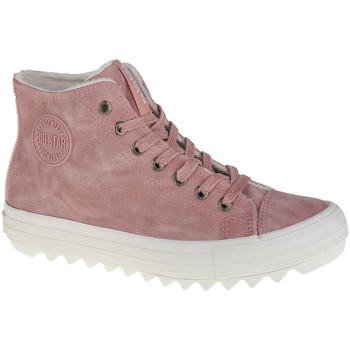 Scarpe Donna Sneakers alte Big Star Shoes Big Top Rose