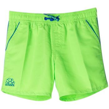 Abbigliamento Bambino Costume / Bermuda da spiaggia Sundek BOXER COLTRANE PIPING RAGAZZO verde (248FLUOGREEN)