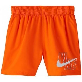 Abbigliamento Bambino Costume / Bermuda da spiaggia Nike BAÑADOR NIÑO  NESSA771 Arancio
