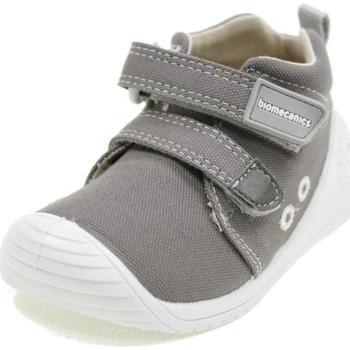 Scarpe Bambino Sneakers alte Biomecanics BIOGATEO CANVAS GRIGIO