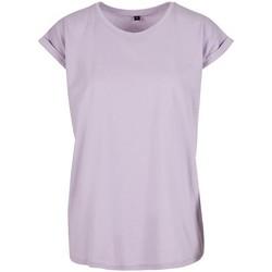 Abbigliamento Donna T-shirt maniche corte Build Your Brand Extended Lilla