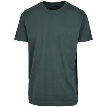 Abbigliamento Uomo T-shirt maniche corte Build Your Brand BY004 Verde bottiglia