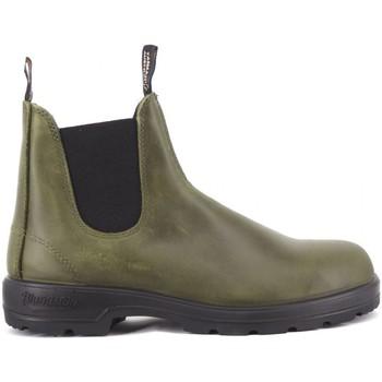 Scarpe Uomo Stivaletti Blundstone 2052 Dark Green Leather Verde Verde