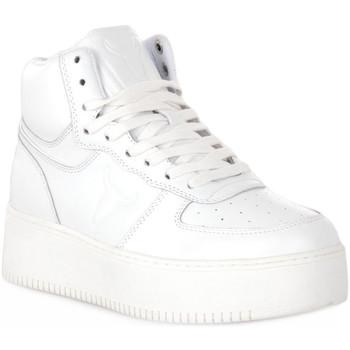 Scarpe Donna Sneakers alte Windsor Smith WHITE THRIVE Bianco