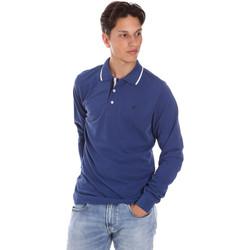 Abbigliamento Uomo Polo maniche lunghe Key Up 2L711 0001 Blu