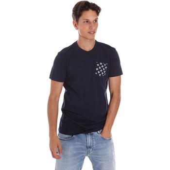 Abbigliamento Uomo T-shirt maniche corte Key Up 2S431 0001 Blu