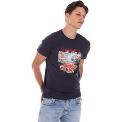Abbigliamento Uomo T-shirt maniche corte Key Up 2S427 0001 Blu