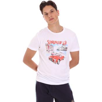 Abbigliamento Uomo T-shirt maniche corte Key Up 2S427 0001 Bianco