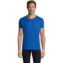 Abbigliamento Uomo T-shirt maniche corte Sols REGENT FIT CAMISETA MANGA CORTA Azul