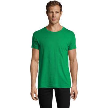 Abbigliamento Uomo T-shirt maniche corte Sols REGENT FIT CAMISETA MANGA CORTA Verde