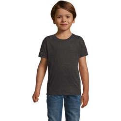 Abbigliamento Bambino T-shirt maniche corte Sols REGENT FIT CAMISETA MANGA CORTA Gris