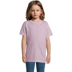 Abbigliamento Unisex bambino T-shirt maniche corte Sols REGENT FIT CAMISETA MANGA CORTA Rosa