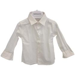 Abbigliamento Uomo Camicie maniche lunghe Siviglia SVNSH7823  001 Bianco