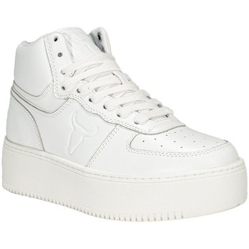 Scarpe Donna Sneakers alte Windsor Smith THRIVE WHTLTHWHT White