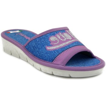 Scarpe Donna Pantofole Linea Comoda Ciabatta jeans/lilla
