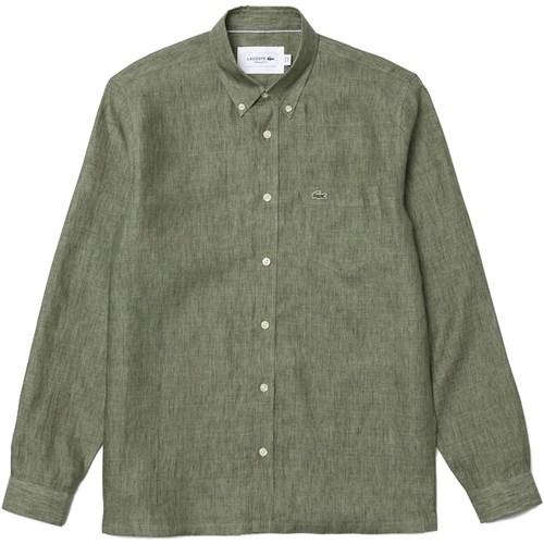 Abbigliamento Uomo Camicie maniche lunghe Lacoste ch4990_ Multicolore