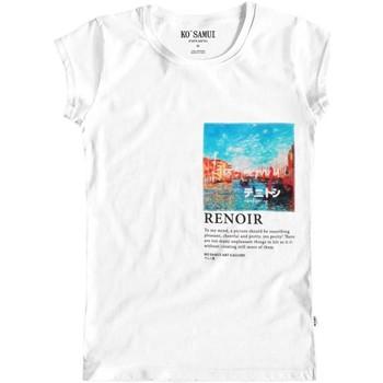 Abbigliamento Donna T-shirt maniche corte Ko Samui Tailors Rivus Art T-Shirt Bianco Bianco