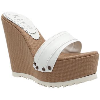 Scarpe Donna Ciabatte Kiara Shoes KZ2001 Bianco