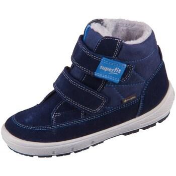 Scarpe Unisex bambino Stivali da neve Superfit Groovy Azzuro, Blu marino