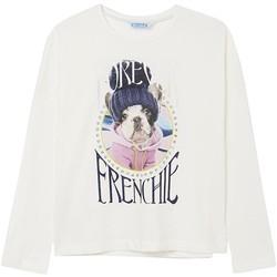 Abbigliamento Bambina T-shirts a maniche lunghe Mayoral  Blanco
