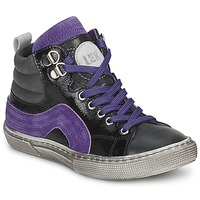 Scarpe Bambino Sneakers alte Little Mary OPTIMAL Nero / Viola