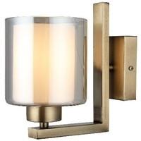 Casa Applique Homemania Lampada a Parete Voda, Oro, L12xP21xA20 cm Oro