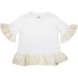 Abbigliamento Bambina T-shirt maniche corte Naturino 6001011 01 Bianco