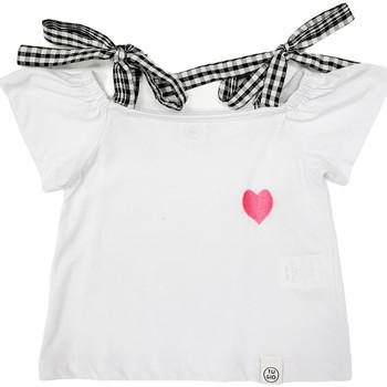 Abbigliamento Bambina T-shirt maniche corte Naturino 6001013 01 Bianco