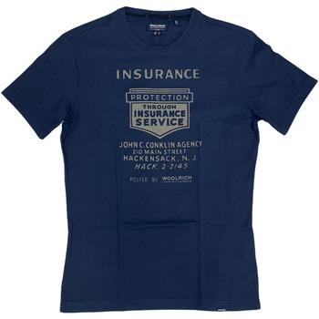 Abbigliamento Uomo T-shirt maniche corte Woolrich ATRMPN-29087 Blu