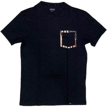 Abbigliamento Uomo T-shirt maniche corte Woolrich ATRMPN-29093 Blu