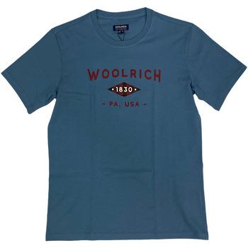 Abbigliamento Uomo T-shirt maniche corte Woolrich ATRMPN-29099 Blu