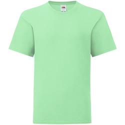 Abbigliamento Unisex bambino T-shirt maniche corte Fruit Of The Loom 61023 Verde