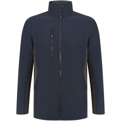 Abbigliamento Giacche Henbury HB835 Blu scuro/Carbone