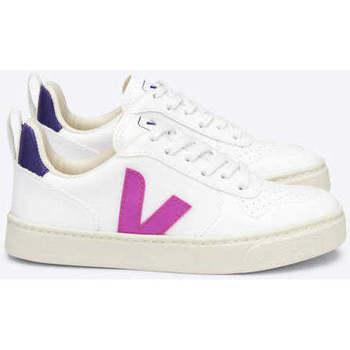 Scarpe Sneakers basse Veja V-10 Lace CWL White UltraViola bianca