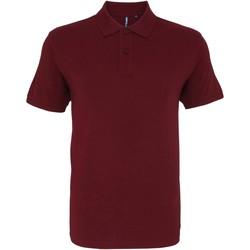 Abbigliamento Uomo Polo maniche corte Asquith & Fox AQ082 Bordeaux