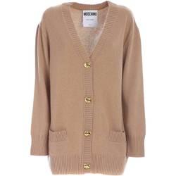 Abbigliamento Donna Gilet / Cardigan Moschino CARDIGAN TEDDY BUTTONS BEIGE DONNA  09205505 A81 BEIGE