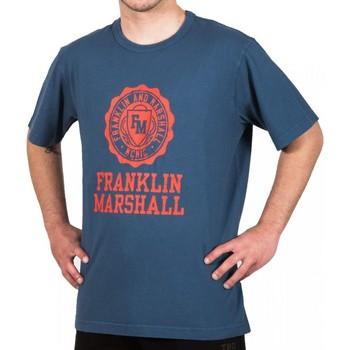 Abbigliamento Uomo T-shirt maniche corte Franklin & Marshall T-shirt Franklin & Marshall Classique bleu marine