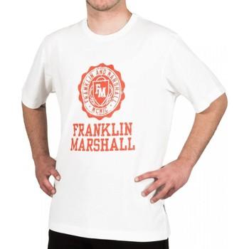 Abbigliamento Uomo T-shirt maniche corte Franklin & Marshall T-shirt Franklin & Marshall Classique blanc crème