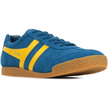 Scarpe Uomo Sneakers basse Gola Harrier Suede Blu