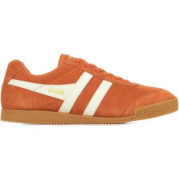 Scarpe Uomo Sneakers basse Gola Harrier Suede Arancio