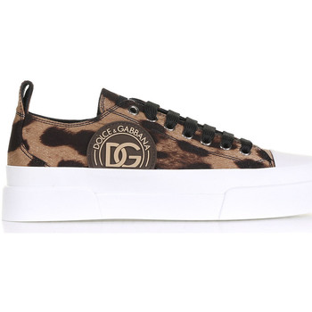 Scarpe Donna Sneakers basse D&G Sneaker Leopardata Con Logo Altri
