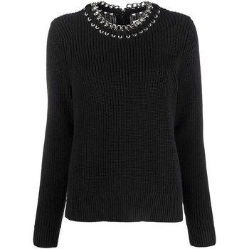 Abbigliamento Donna Maglioni MICHAEL Michael Kors Maglia con rifiniture a catena Nero