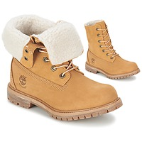 Scarpe Donna Stivaletti Timberland AUTHENTICS TEDDY FLEECE WP FOLD DOWN Cognac / Clair